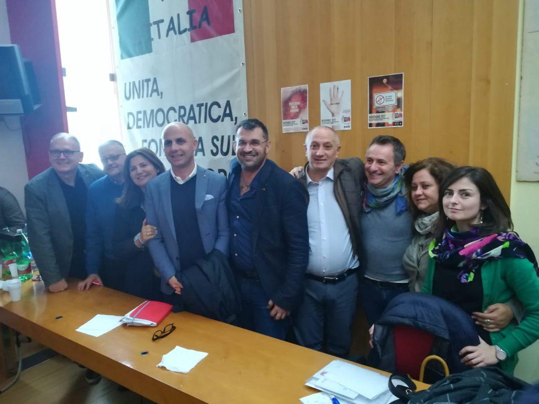 La segreteria regionale con il presidente Vincenzo Tafuto